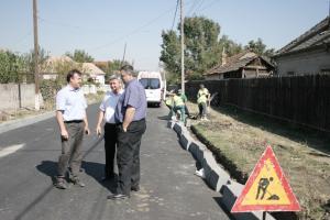 Prefectul de Dolj si primarul din Bailesti au verificat stadiul lucrarilor